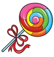 colorful lollipop on white background vector image
