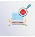 Display sale case vector image