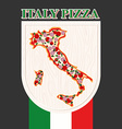 Italian pizza Sign for a restaurant or Cafe Pizza vector image