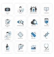 Medical and Health Care Icons Set Flat Design vector image