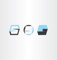 number five 5 logo icon letter s set vector image
