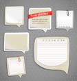 Paper text bubbles clip-art vector image