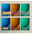 Set abstract bright colors green and blue vector image