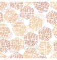 Abstract mosaic hexagon texture vector image vector image