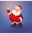 Santa with wine glass vector image