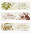 Wine and winemaking grunge vintage banners vector image vector image