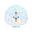 start up business project banner vector image