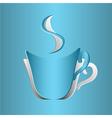 Coffee Cup Cutout vector image vector image