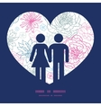 gray and pink lineart florals couple in love vector image