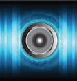 speaker and sound wave vector image