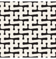 Seamless Black and White Rounded Line Cross vector image vector image