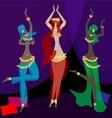 oriental dancers vector image vector image