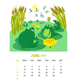 June vector image