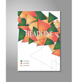 Brochure design triangles vector image