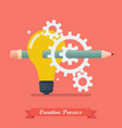 creative process idea concept vector image