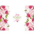 floral romantic banner vector image