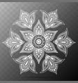 flower mandala oriental pattern vector image