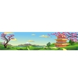 Panorama of nature Asia Palace vector image