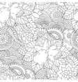 Seamless pattern black and white walnut vector image