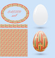 set of easter design elements eggs seamless vector image