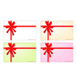Set of New Year Card with Red Ribbon vector image