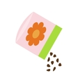 Small bag of flower seeds icon isometric 3d style vector image