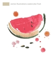 Watercolor of watermelon No vector image