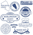 Burlington county New Jersey stamps and seals vector image
