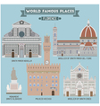 Florence Famous places vector image vector image
