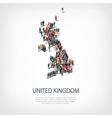 people map country United Kingdom vector image
