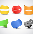 Paper ribbons set vector image