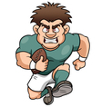 rugby player vector image