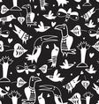 Texture funny bird vector image vector image