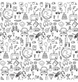Everyday things handdrawn black and white vector image