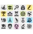 school logo design template education or vector image