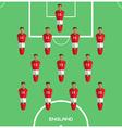 Computer game England Football club player vector image