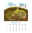January vector image