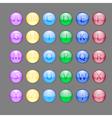 Alphabet buttons vector image