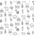 bistro line icon seamless pattern vector image
