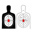 Black and white human target vector image