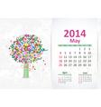 calendar 2014 3 05 vector image