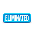 eliminated blue 3d realistic square isolated vector image