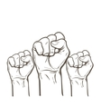 Fist as a symbol of good luck strength and vector image