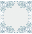 Frame With Abstract Poppies vector image