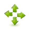 Green arrows vector image