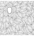 hand drawn seamless pattern with leaf and vector image
