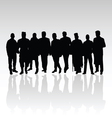 man in group silhouette black color vector image