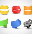 Paper ribbons set vector image