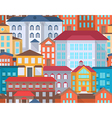 Seamless city street vector image