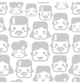 Seamless pattern with happy family faces vector image